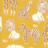 Moda Fabrics - Safari / Animal Names / Yellow / 20642-18