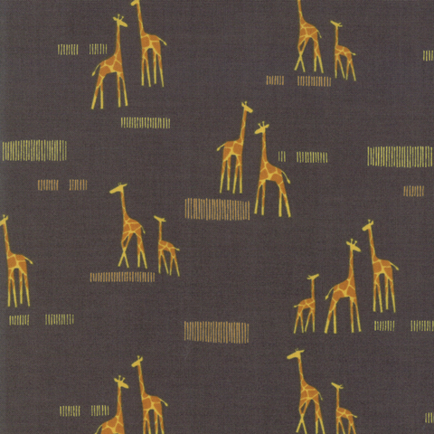 Moda Fabrics - Safari / Giraffe / Grey / 20647-15