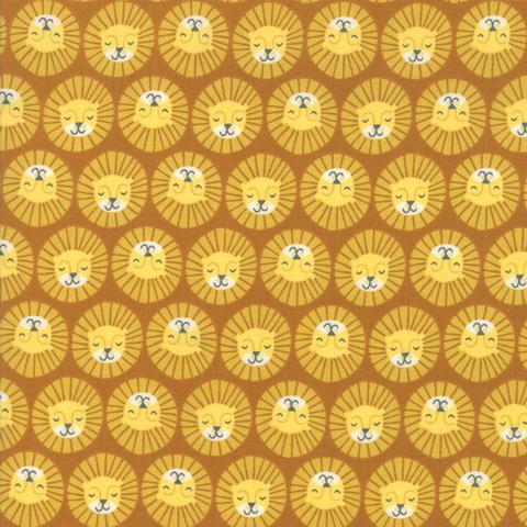 Moda Fabrics - Safari / Lions / Yellow / 20646-17