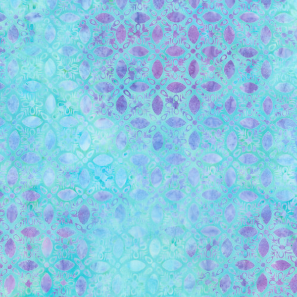 Robert Kaufman - Batik / Fancy Feathers 3 / Petals / 19029-70 Aqua