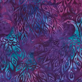 Robert Kaufman - Batik / Fancy Feathers 3 / Bird / 19027- Violet