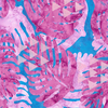 Banyan Batiks - Tapa Cloth Leaf / Metallic / 80253-28 Pink&Purple