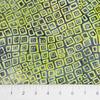 Banyan Batiks - Visual Sounds / Yellow Green Squares in Squares / 80027-52