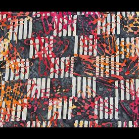Banyan Batiks - Visual Sounds / Red / Skribbles / 80024-28