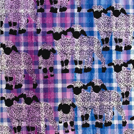 Banyan Batiks - Kilt & Quilts / Sheep / Purple / 80399-28