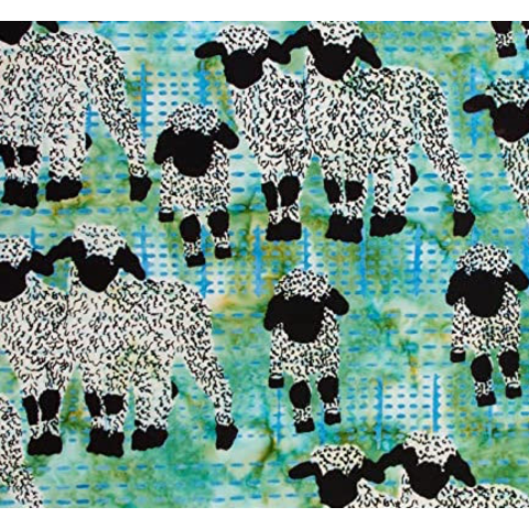 Banyan Batiks - Kilt & Quilts / Sheep / Green / 80399