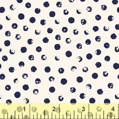 Windham - Clever Dots / Navy on White / 42675-8