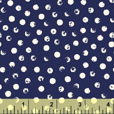 Windham - Clever Dots / White on Navy / 42675-1