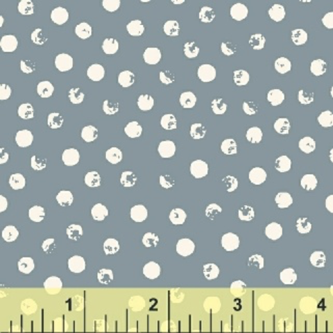 Windham - Clever Dots / White on Grey / 42675-3