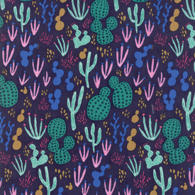 Moda Fabrics - Yucatan / Cactus / Blue / 16710-21