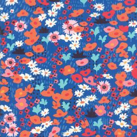 Moda Fabrics - Botanica / Small Flowers / Royal Blue / 11841-14