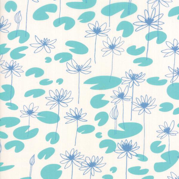 Moda Fabrics - Botanica / Lilly Pad / White / 11843-11