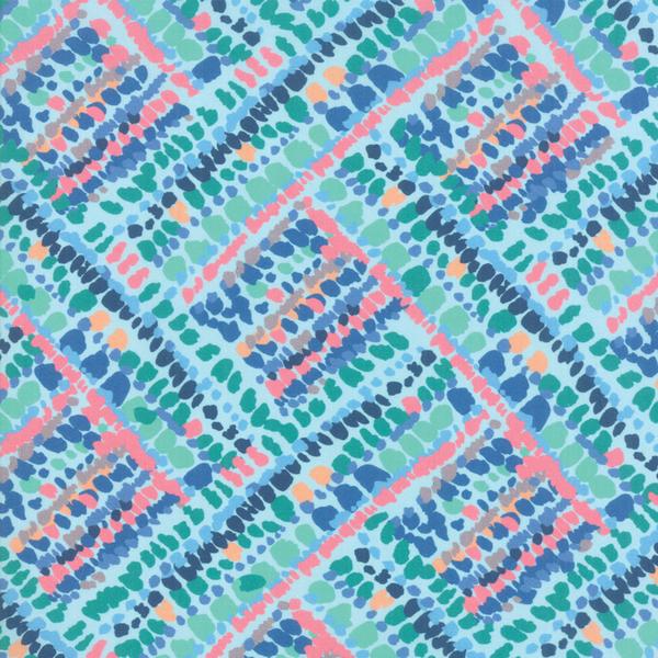 Moda Fabrics - Botanica / Colorful Dash / Light Blue / 11844-14