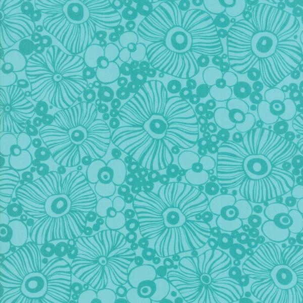 Moda Fabrics - Botanica / Hawaiian Flower / Teal / 11842-19