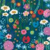 Moda Fabrics - Growing Beautiful / Wild Flowers / Aqua / 11830-11