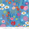 Moda Fabrics - Growing Beautiful / Wild Flowers / Blue / 11830-12