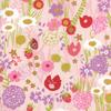 Moda Fabrics - Growing Beautiful / Wild Flowers / Pink / 11830-13
