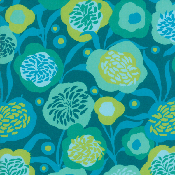 Moda Fabrics - Growing Beautiful / Floral / Turquoise / 11831-11