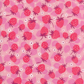 Moda Fabrics - Growing Beautiful / Strawberries / Pink / 11832-13