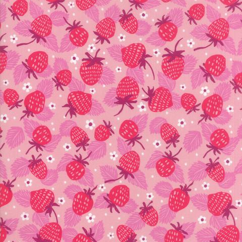 Moda Fabrics - Growing Beautiful / Strawberries / Pink / 11832-13