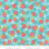 Moda Fabrics - Growing Beautiful / Strawberries / Aqua / 11832-17