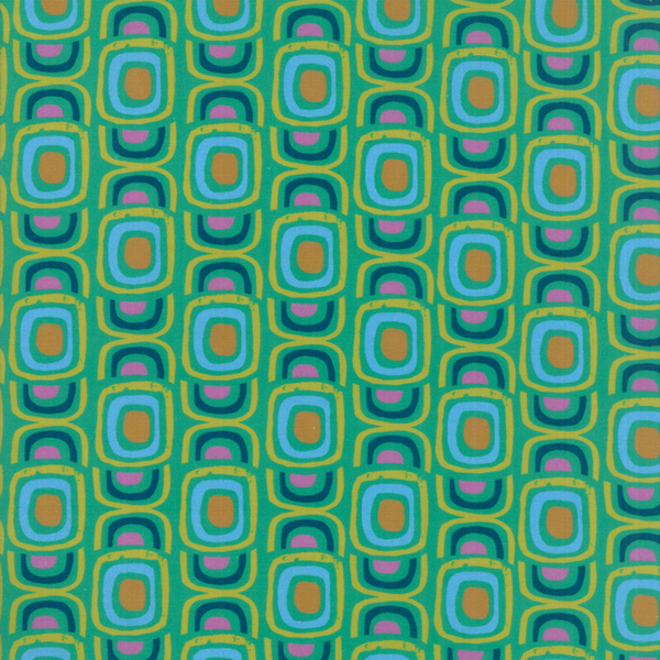 Moda Fabrics - Growing Beautiful / Geometric / Green / 11833-13