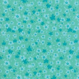 Moda Fabrics - Growing Beautiful / Little Flowers / Turquoise / 11834-12