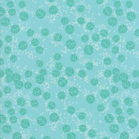 Moda Fabrics - Growing Beautiful / Leaf / Turquoise / 11835-14