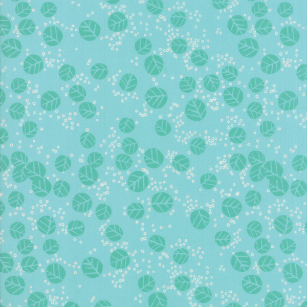 Moda Fabrics - Growing Beautiful / Leaf / Turquoise / 11835-14