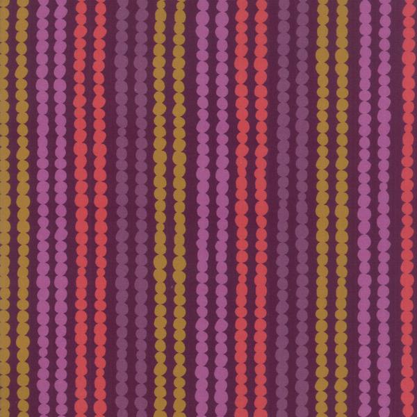 Moda Fabrics - Growing Beautiful / Stripe / Plum / 11836-12