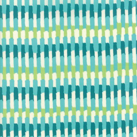 Moda Fabrics - Painted Garden / Stripe / Turquoise / 11814-16