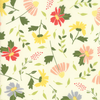 Moda Fabrics - Clover Hollow / Large Flowers / White / 37550-11