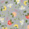 Moda Fabrics - Clover Hollow / Large Flowers / Grey / 37550-12