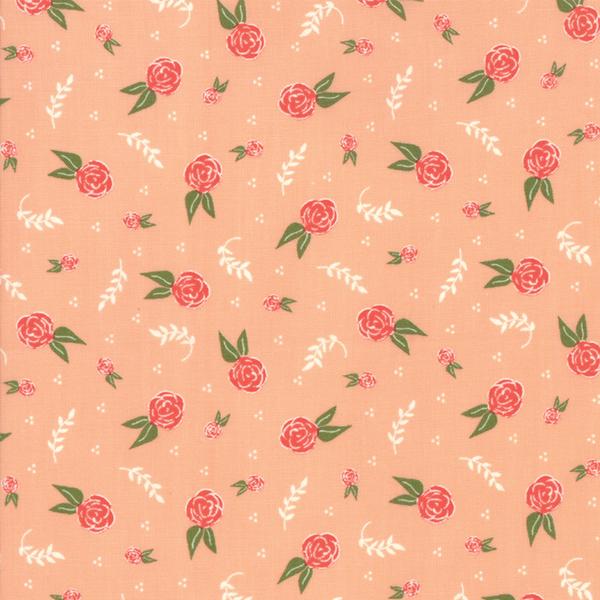 Moda Fabrics - Clover Hollow / Small Roses / Pink / 37552-15