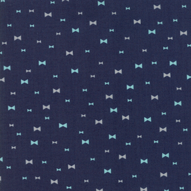 Moda Fabrics - Clover Hollow / Bow / Navy / 37554-21