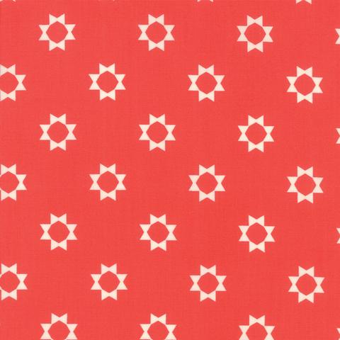 Moda Fabrics - Clover Hollow / Sun / Red / 37553-17