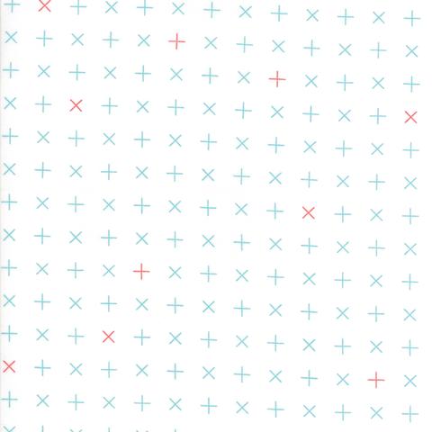 Moda Fabrics - Modern Colorbox / Zen Chic / Rotating X / Blue / 1645-11