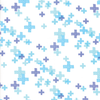 Moda Fabrics - Modern Colorbox / Zen Chic / Cross / Blue / 1644-13