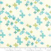 Moda Fabrics - Modern Colorbox / Zen Chic / Cross / Green / 1644-18