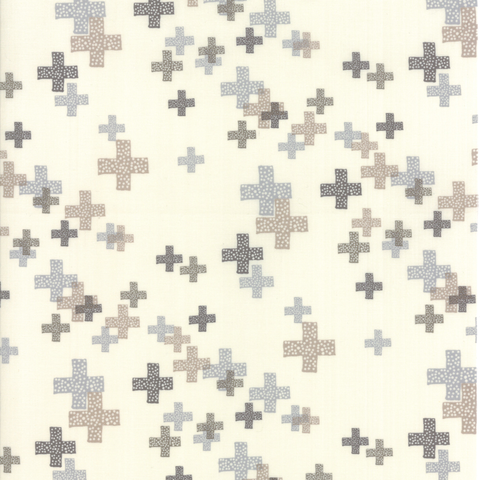 Moda Fabrics - Modern Colorbox / Zen Chic / Cross / Grey / 1644-20