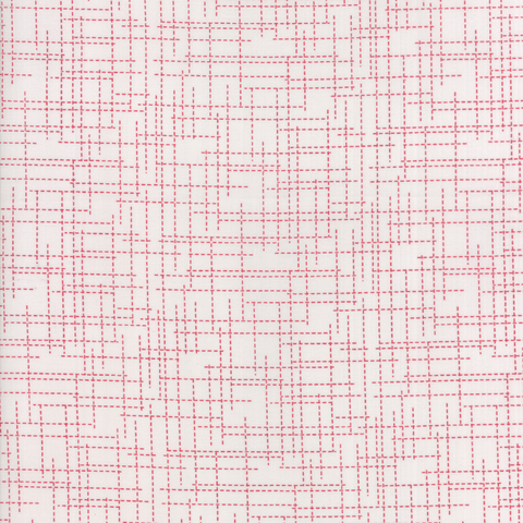 Moda Fabrics - Modern Colorbox / Zen Chic / Dotted Lines / Red / 1648-14