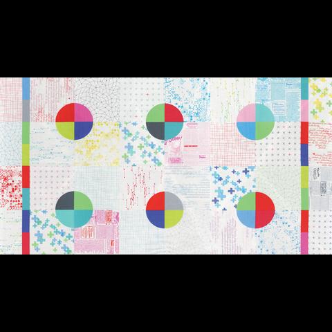 Moda Fabrics - Modern Colorbox / Zen Chic /  Geometric Background / Multi Color / 1640-11
