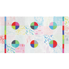 Moda Fabrics - Modern Colorbox / Zen Chic /  Geometric Background / Multi Color / 1640-11