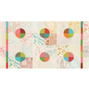 Moda Fabrics - Modern Colorbox / Zen Chic /  Geometric Background / Nuetral Multi Color / 1640-22