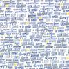 Moda Fabrics - Harmony / Positive Words /  Blue / 5696-11