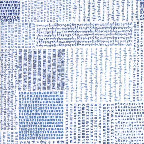 Moda Fabrics - Harmony / Alphabet Block / Blue / 5690-11
