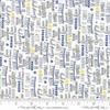 Moda Fabrics - Harmony / Positive Words /  Grey /  5696-13