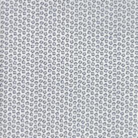 Moda Fabrics - Harmony / Flower Rows / Grey on White / 5694-16