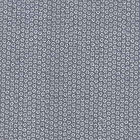 Moda Fabrics - Harmony / Flower Rows / Grey on Grey / 5694-26