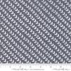 Moda Fabrics - Harmony / Rows of Hearts / White on Grey / 5693-26